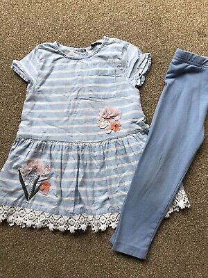 Girls Pretty Top And Leggings Set Age 2-3