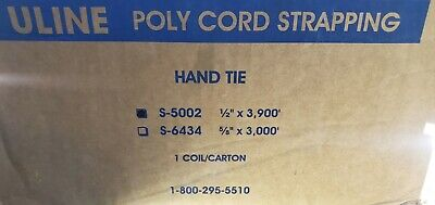 """new in box Uline S-5002 Polyester Cord Strapping 1/2"""" W 3900Ft - (75-P/G-76)"""