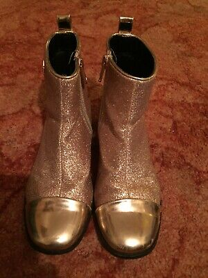 GENUINE UNBOXED TED BAKER GIRLS GLITTERY GOLD BOOTS IN SIZE UK13 (eur 32)