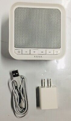 AVANTEK White Noise Sound Machine with 20 Soothing Sounds White
