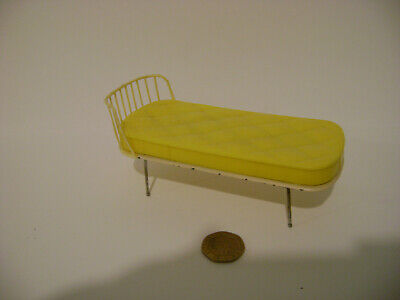 Vintage Doll's House Tri-ang Single Divan Bed.Spot On.Metal and Plastic.