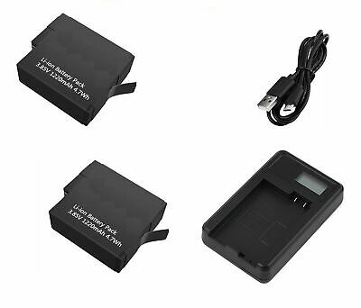 2x replacement Li-ion Battery & USB Charger for Gopro Hero 5, 6 , AHDBT-501