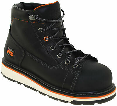 """Timberland Men's Gridworks 6"""" Alloy Toe Work Boot Style TBO A1B4k Black"""