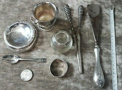 Collection of Sterling Silver Items, ideal dealer lot, some for scrap