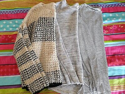 2 Jumpers 1 T-shirt Long Sleeved Joblot ONLY H&M Hollister Size small & medium