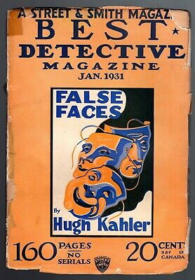 BEST DETECTIVE magazine - Jan 1931 - A Smith & Street magazine - Vol 3 No 3