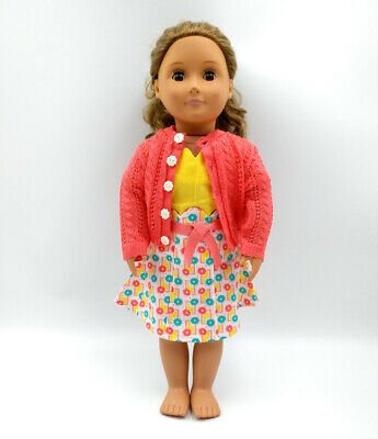 Fit For 18'' American Girl Sweater Photographer Dress Outfit Doll Beforever Kits