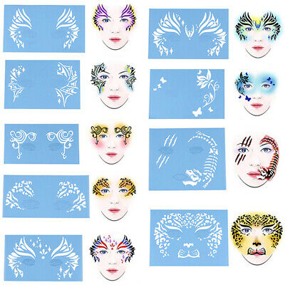 Face Paint Stencil Reusable Template Tattoo Painting Drawing Mold Makeup Too*