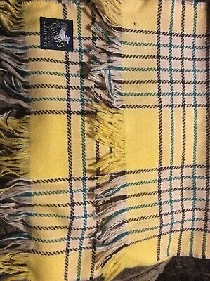Sammy Made In England All Wool Scarf, Yellow, MOD.