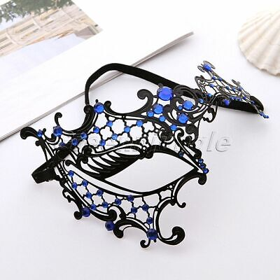 Masquerade Mask Women Venetian Lace Mask For Halloween Carnival Party Lace Metal