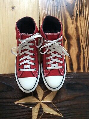 Converse All Star Red Mid Tops Men's 7 Women's 9 Great Condition