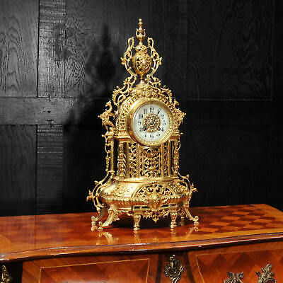 Antique French Gilt Bronze Baroque Clock C1880
