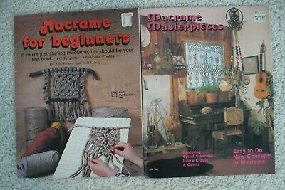 Vintage Macrame Books ~ Lot of 2