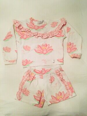 Girls Designer Adee Waterlily Jumper and Shorts Set - Age 8