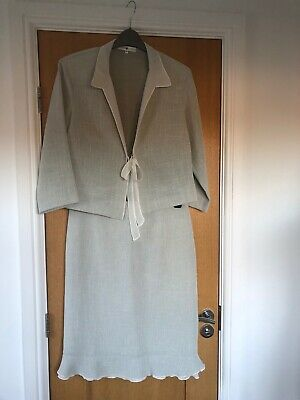 Wedding Guest Skirt & Jacket Suit by Rosie's LF Coll - Size 40/12 - VGC