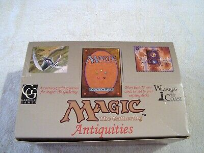Antiquities Booster Box EMPTY Magic the Gathering Very Rare