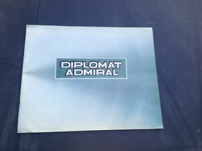 OPEL DIPLOMAT ADMIRAL booklet  FRANCE genuine commercial of the seventies
