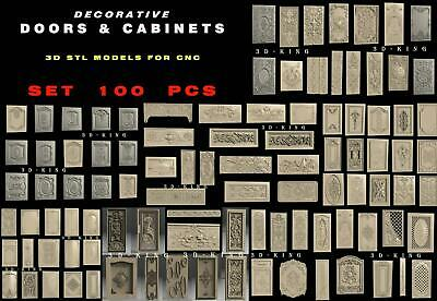 90 PCS 3D STL Model # DOORS & CABINETS # for CNC 3D Printer Engraver Carving