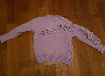 Girls River Island Chenille Jumper Age 9 -10 Years 99p Unwanted