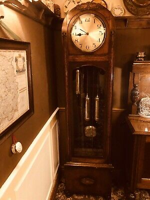 Art Deco long-case clock. Utility( 1930's.) Excellent condition, chiming.