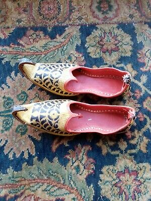 Arabic Indian Egptian Ladies or mens Slippers Shoes Unisex size UK 6
