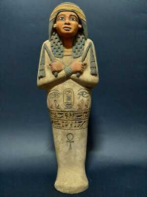 ANCIENT EGYPTIAN ANTIQUES Ushabti shabti Servant Pharohnic King 1620-1339 BC