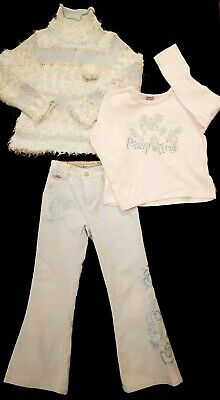 Girls Outfit By PAMPOLINA trousers Top And Jumper Size 116 Age 4 5 6