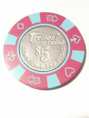 Fremont Casino Las Vegas, Nevada $5.00 Metal Insert Chip Great For Collection!