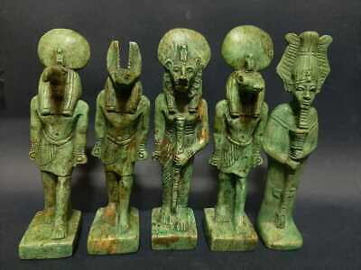 ANCIENT EGYPTIAN ANTIQUES STATUES GODS ANUBIS SEKHMET OSIRIS THOTH Sobek BC