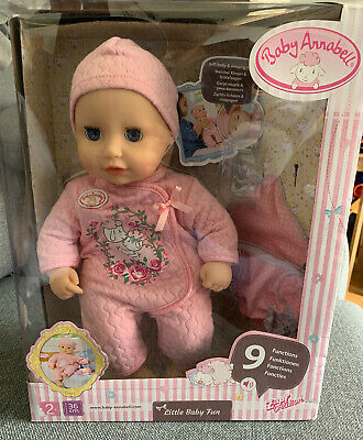 NEW Baby Annabell Little Baby Fun Has Sound & Accessorise