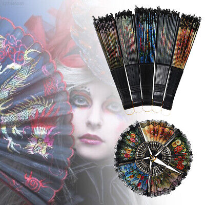 Random Color Spanish Style Arty Pocket Gifts Dancing Hand Hand Held Flower Fan