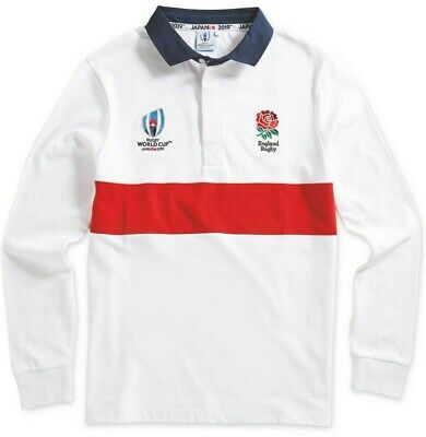"""Mens XXL England Rugby World Cup 2019 Japan Long Sleeve Rugby Shirt 48-50"""""""
