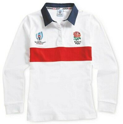 """Ladies Small England Rugby World Cup 2019 Japan Long Sleeve Rugby Shirt 33-34.5"""""""