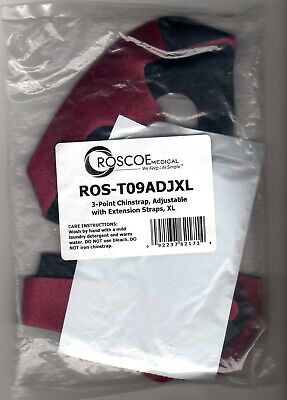 Roscoe 3 Point Chin Strap Adjustable, Ruby Red Size XL