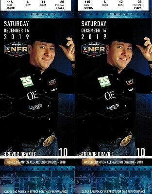 NFR National Finals Rodeo Tickets Day 10 FINAL NIGHT, Saturday December 14, 2019