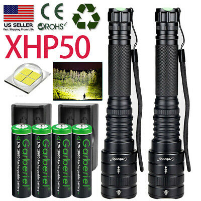 990000Lumen XHP50 18650 Tactical Police SWAT Zoomable LED Flashlight Torch Light