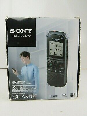 SONY Stereo IC Recorder 2GB Silver ICD-AX412 digital Dictaphone Complete