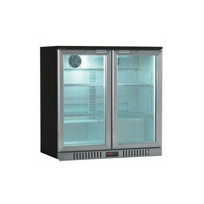 Showcase Refrigerated Back bar Series Stainless - 2 Ports to Knocker