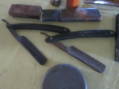 """Genuine Bengal Razor& """"Withers""""In Case-Sheffield England Shaving Box Vint 20's++"""