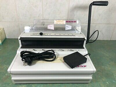 RENZ SRW-COMFORT 3:1 Electric Wire Comb Binding Machine With Foot Control