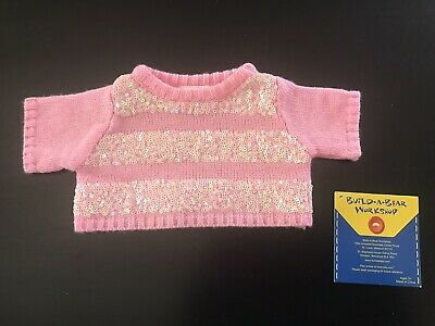 BNWT - Pink Sequence Sweater - Build A Bear Genuine Clothes