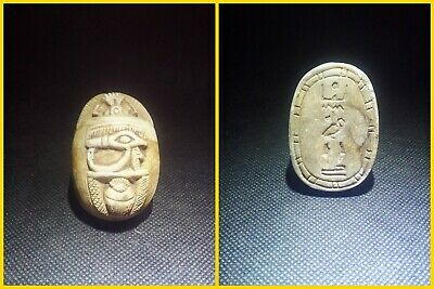 EGYPTIAN ANTIQUES ANTIQUITIES Scarab Beetle Khepri Figure Sculpture 1549-1178 BC