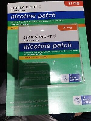 Simply right healthcare patch 21 clear patches NEW