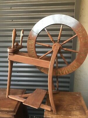 Wooden Spinning Wheel For Decoration Or Restoration
