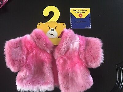 BNWT - Tipped Fur Coat Pink - Build A Bear Genuine Clothes