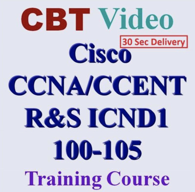 CCNA ICND1 100-105 CBT Training Videos 🔥 30 Sec Delivery 📩⚡