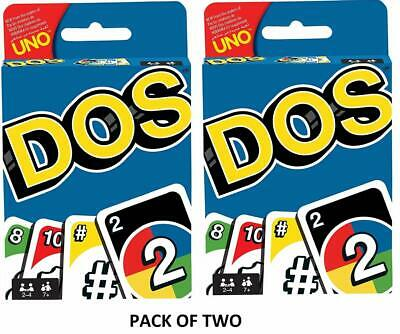 Uno Dos Card Game Pack of Two US SELLER