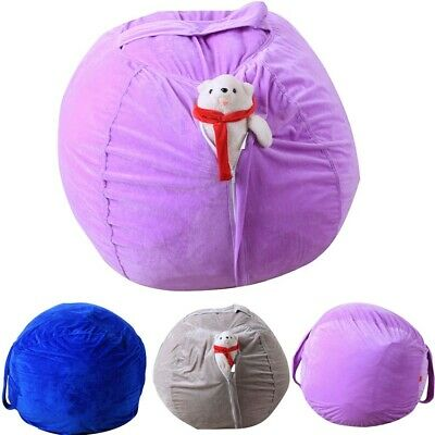 Awesome Kids Stuffed Animal Plush Toy Storage Bean Bag Soft Pouch Alphanode Cool Chair Designs And Ideas Alphanodeonline