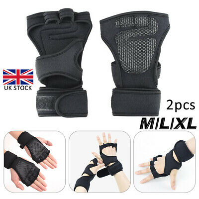 Cross Fit Neoprene Gloves Gel Weight Lifting Gym Fitness Body Building Training