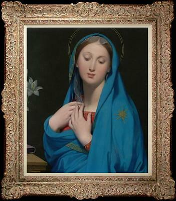 """Old Master-Art Antique Oil Painting Portrait Virgin Mary on canvas 20""""x24"""""""